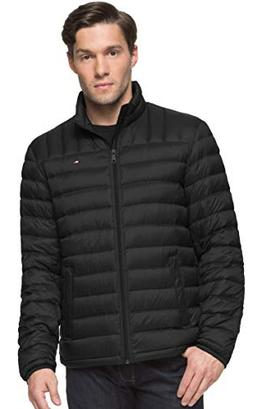 Tommy Hilfiger Men's Packable Down Jacket, Black, X-Large