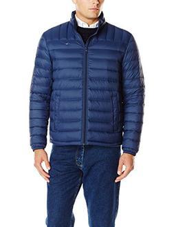 Tommy Hilfiger Men's Packable Down Jacket , Navy, X-Large