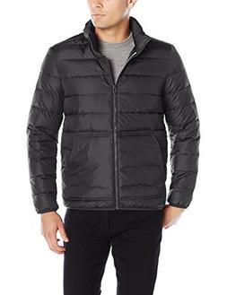 Cole Haan Men's Packable Down Jacket, Black, Medium