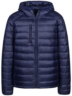 Wantdo Men's Packable Ultra Light Weight Hooded Puffer Down