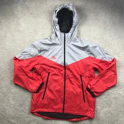 Nike Packable Windrunner Full Zip Jacket Grey Red Black 9178