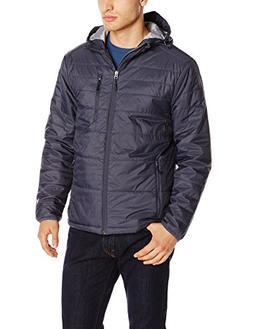 White Sierra Men's Peak Packable Hooded Jacket, Large, Titan