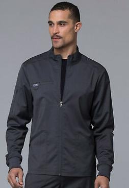 Pewter Cherokee Scrubs Workwear Revolution Mens Zip Front Ja