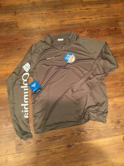 Columbia PFG Mens Terminal Tackle 1/4 Zip LS Shirt Size XL C