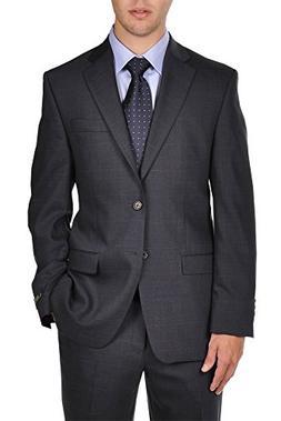 Ralph Lauren Navy Plaid 2 Button Modern Style Fit Dress Suit