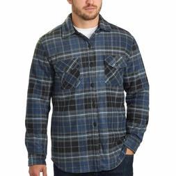 Men's Plaid Super Plush Jacket Shirt