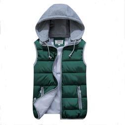 Plus Size man Hat Detachable Vest <font><b>Jacket</b></font>