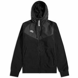 Nike Polar Fleece Windrunner Hoodie Jacket Winter Black Grey