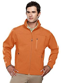 Tri-mountain Mens poly stretch bonded soft shell jacket. - B