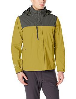 Columbia Men's Pouration Jacket, X-Large, Peppercorn/Gravel