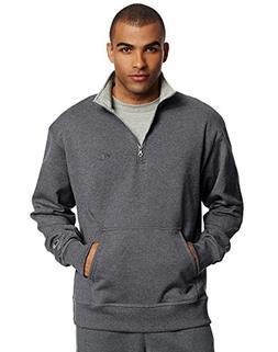Champion Men's Powerblend Sweats 1/4 Zip Pullover Granite He