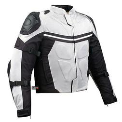 PRO MESH MOTORCYCLE JACKET RAIN WATERPROOF WHITE