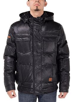Luciano Natazzi Men's Puffer Coat Tec Removable Hooded Bombe