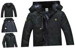 QPNGRP Mens Waterproof Fleece Ski Jacket Windproof Winter Sn