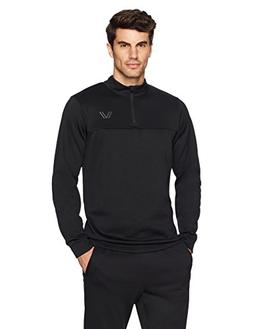 Peak Velocity Men's Quantum Fleece 1/4 Zip Athletic-Fit Top,