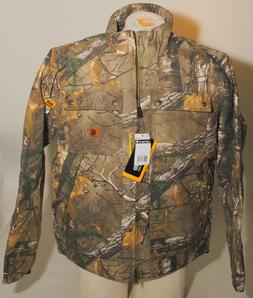 Carhartt Quick Duck Camo Jacket Coat Rain Defender Size LARG