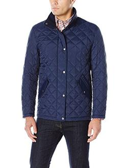 Cole Haan Men's Quilted Barn Jacket, Navy, Large
