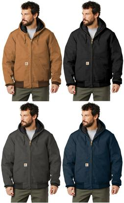 Carhartt Quilted Flannel Lined Duck Active Jacket J140 Regul
