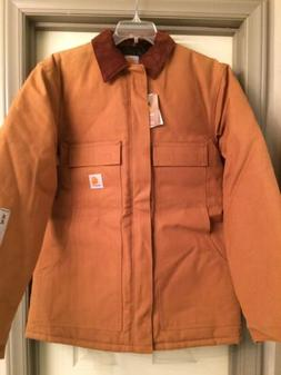 Carhartt Quilted Lined Jacket Men's Size M Tall Brown