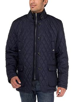 Luciano Natazzi Men's Quilted Puffer Jacket with Double Knit