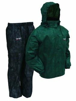 483a627c4cd53 Frogg Toggs Men's All Sports Rain and Wind Suit, Green/Black