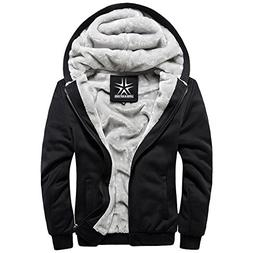 URBANFIND Men's Regular Fit Hooded Coat Fleece Outerwear Jac
