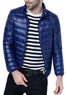 Men's Retro Lightweight Packable Down Puffer Coat Stylish Ou