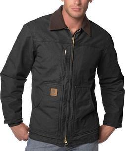 Carhartt Men's Ridge Coat Sherpa Lined Sandstone,Black,Mediu