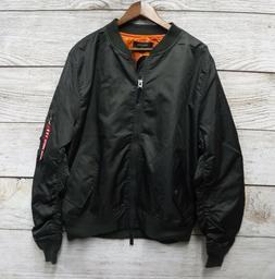 Ring of Fire Jacket Mens Size 2XLarge Olive & Orange Nylon F