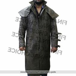 Ron Perlman Hellboy Men Western Duster Winter Trench Leather