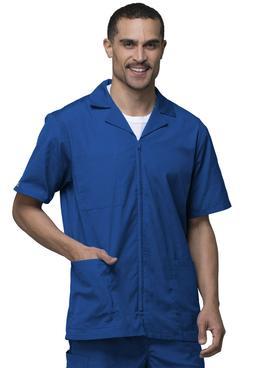 Royal Blue Cherokee Scrubs Workwear Mens Zip Front Jacket 43