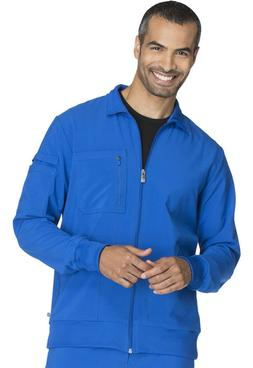 Royal Cherokee Scrubs Infinity Mens Zip Front Warm Up Jacket