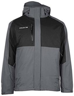 Columbia Men's Rural Mountain II Interchange Jacket-Gray/Bla