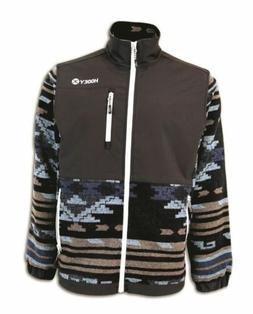 SALE! Hooey Men's Black Aztec Fleece Jacket HJ051BK