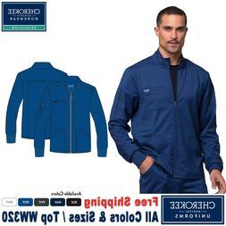 Cherokee Scrubs REVOLUTION Men's New Fashion Zip Front Jacke