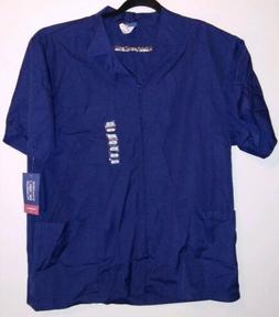 Scrubs Cherokee Workwear Mens Zip Front Jacket 4300 Navy Med