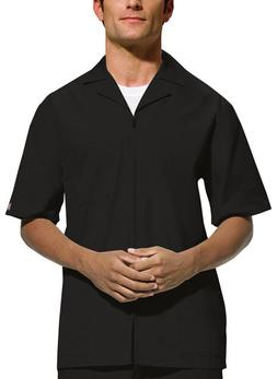Scrubs Cherokee Workwear Mens Zip Front Jacket 4300 Black