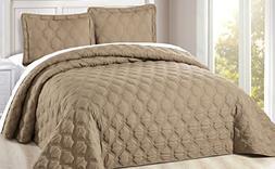 Serenta Down Alternative Quilted Bradly 3 Piece Bedspread se