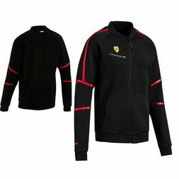 Puma SF Ferrari Mens Full Zip Up Sweat Track Jacket Top Blac