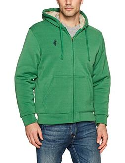 U.S. Polo Assn. Mens Standard Sherpa Lined Fleece Hoodie, Hi