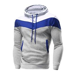haoricu Mens Shirt, Autumn Winter Men Retro Long Sleeve Hood