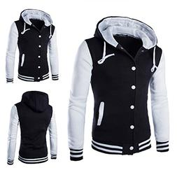 Mens Shirt,Haoricu Autumn Winter Men Teens Slim Fit Hoodie S