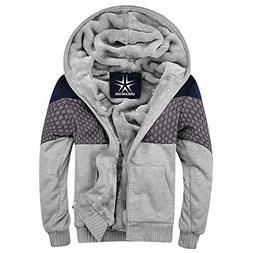 URBANFIND Men's Slim Fit Hooded Coat Fleece Quilt Outerwear