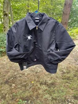 Small Dickie's Jacket With  Rockhound Logo White,  Black