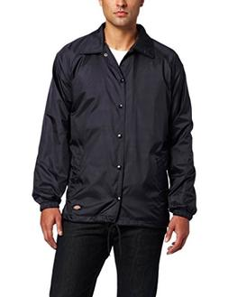 Dickies Men's Snap Front Nylon Jacket, Dark Navy, Large