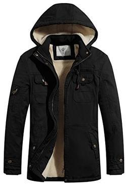 WenVen Men's Soft Shell Jacket Sherpa Lined Jacket Lightweig