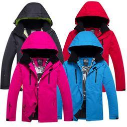 Solid Hooded Winter <font><b>Ski</b></font> <font><b>Jackets