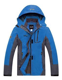Wantdo Men's Sportswear Spring Front Zip Hooded Outdoor Wind