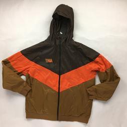 Nike Sportswear Windrunner Brown Orange Full Zip Jacket AJ13