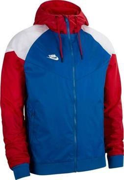 Nike Sportswear Windrunner Full-Zip Jacket Blue Red White CK